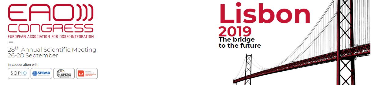 congresso EAO lisboa, congressos portugal 2019 medicina dentária